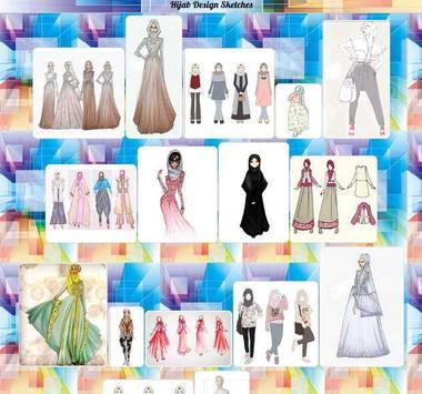 Hijab Design Sketches poster