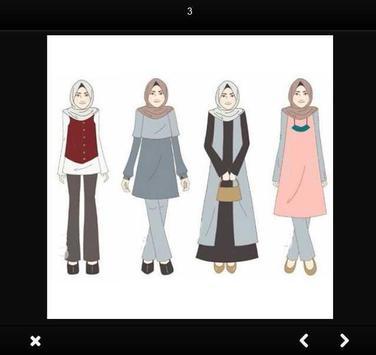 Hijab Design Sketches apk screenshot