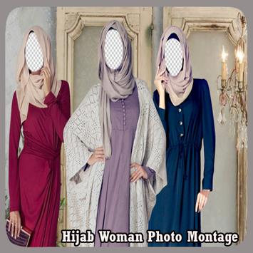 Hijab Woman Photo Montage poster