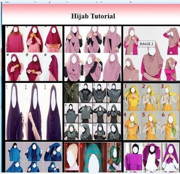 Hijab tutorial poster