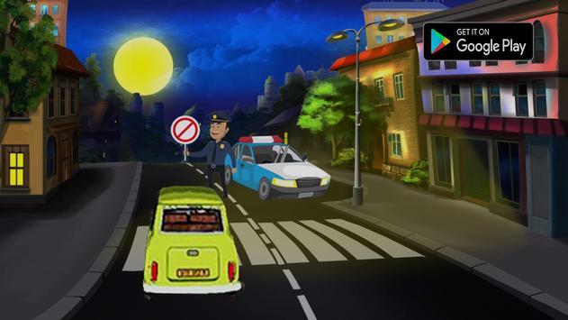 Car Racing Mr Bean poster