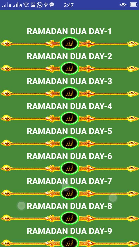 RAMADAN DAILY DUAS 30 AUDIO for Android - APK Download