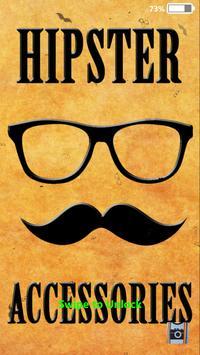 Hipster Lock Screen Wallpaper poster