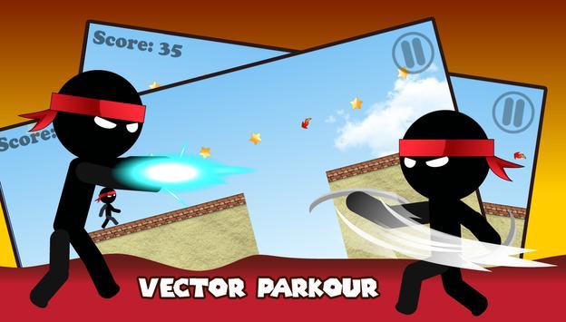 Ninja Vector Parkour apk screenshot