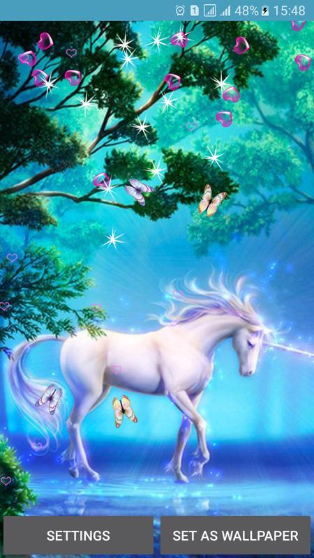 Unicorn Live Wallpapers Poster Apk Screenshot