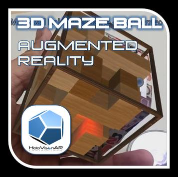 3D MazeBall Augmented Reality poster