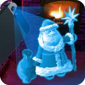 Hologram Santa Claus Ded icon