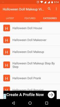 Holloween Doll Makeup Videos screenshot 3