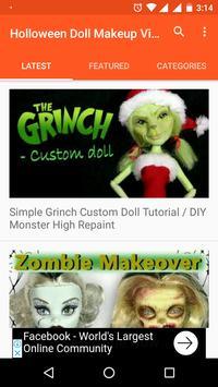 Holloween Doll Makeup Videos screenshot 1