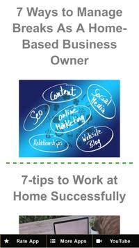 Home Business Opportunity- Work From Home Now Tips apk screenshot