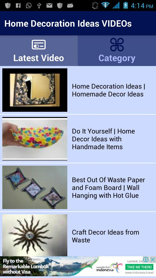 Home Decoration Ideas Videos For Android Apk Download