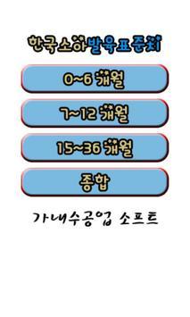 한국소아 발육 표준치(육아,아기,소아) poster