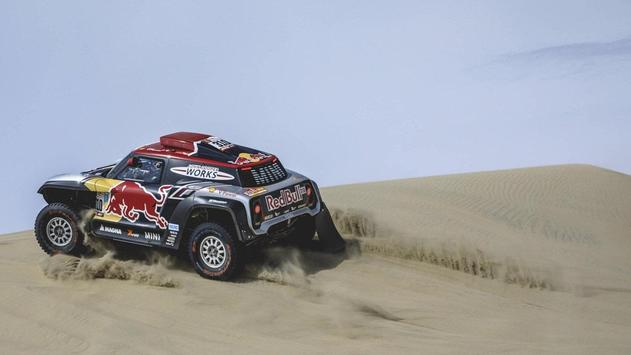 Dakar Rally Cars Wallpaper poster