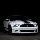 White Mustang Wallpaper icon