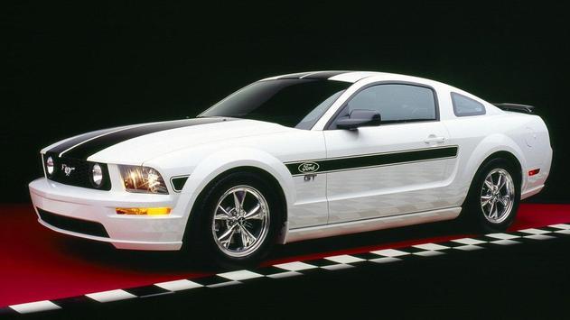White Mustang Wallpaper screenshot 1