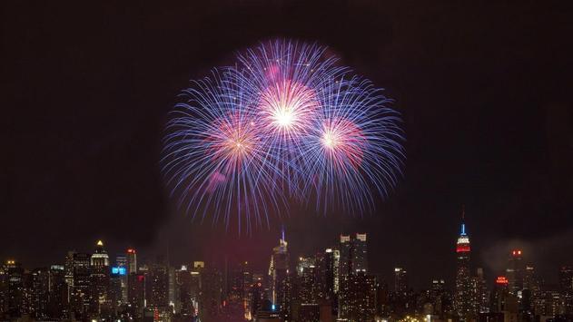 Awesome Fireworks Wallpaper apk screenshot