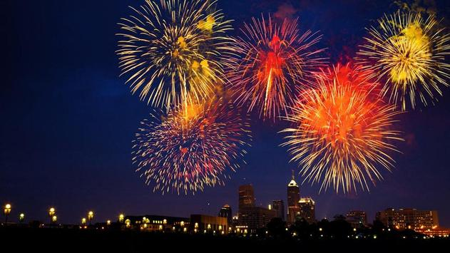 Beautiful Fireworks Wallpaper poster
