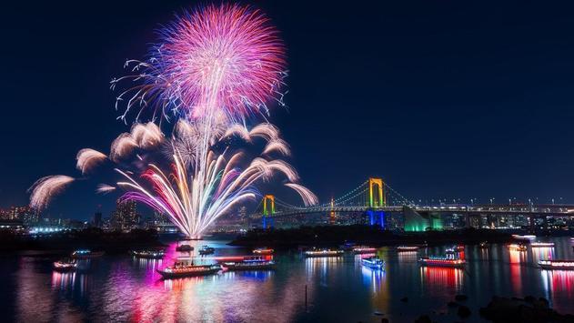 Sky Fireworks Wallpaper apk screenshot