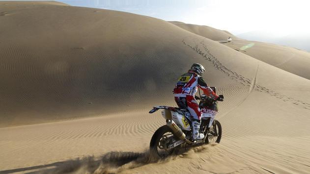 Dakar Rally Bike Wallpaper poster