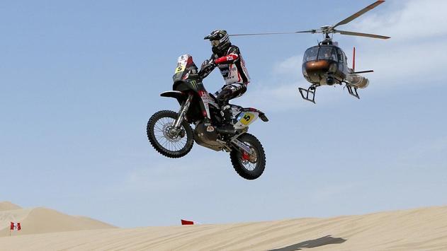 Dakar Rally Bike Wallpaper screenshot 2