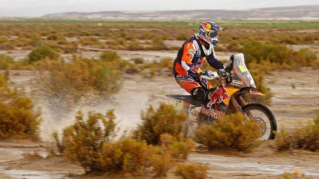 Rally Dakar Motorcycle Desert Wallpaper poster