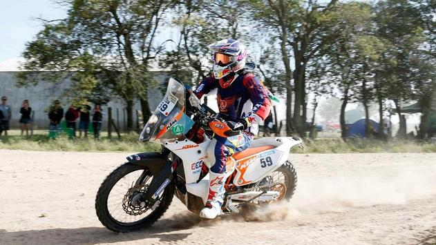 Rally Dakar Motorcycle Desert Wallpaper screenshot 14