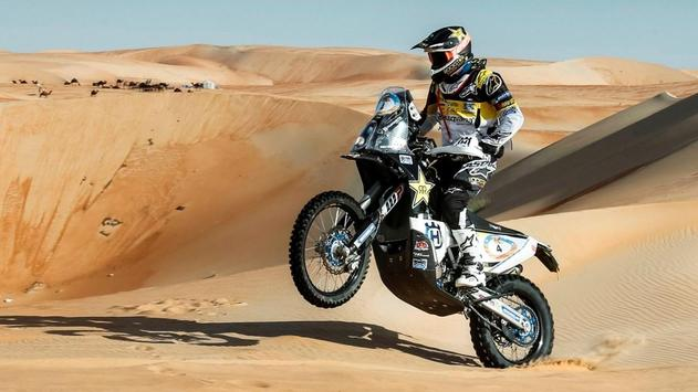 Rally Dakar Motorcycle Desert Wallpaper screenshot 17