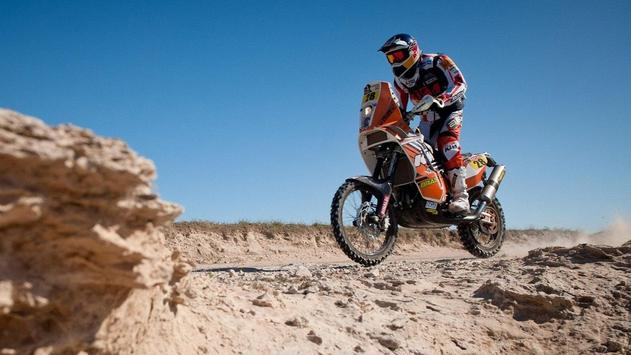 Rally Dakar Motorcycle Desert Wallpaper screenshot 19