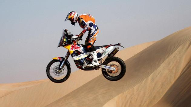 Rally Dakar Motorcycle Desert Wallpaper screenshot 10
