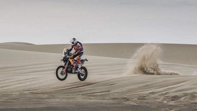 Rally Dakar Motorcycle Desert Wallpaper screenshot 11