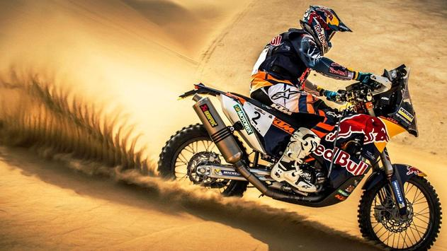 Rally Dakar Motorcycle Desert Wallpaper screenshot 13