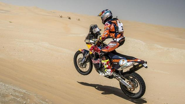Rally Dakar Motorcycle Desert Wallpaper screenshot 23