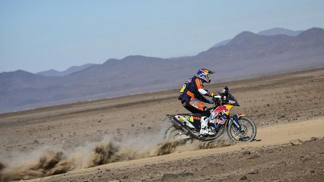 Rally Dakar Motorcycle Desert Wallpaper screenshot 3