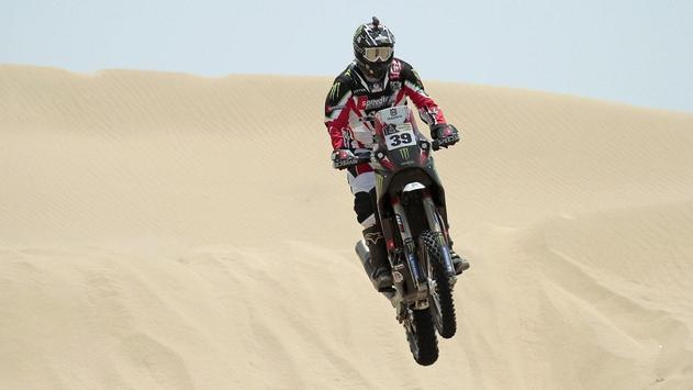 Rally Dakar Motorcycle Desert Wallpaper screenshot 4