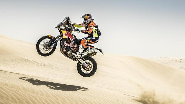 Rally Dakar Motorcycle Desert Wallpaper screenshot 5