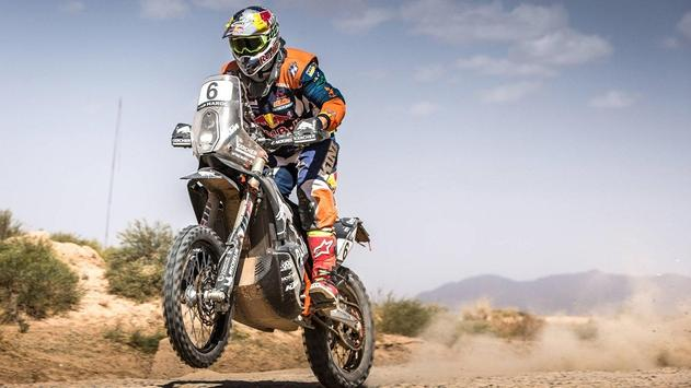 Rally Dakar Motorcycle Desert Wallpaper screenshot 6