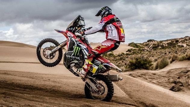 Rally Dakar Motorcycle Desert Wallpaper screenshot 7