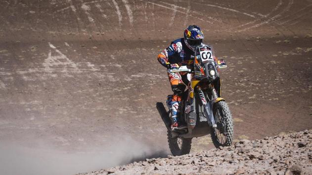 Rally Dakar Motorcycle Desert Wallpaper screenshot 8