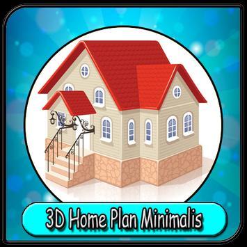 Plany 3D Dom Minimalistyczny plakat