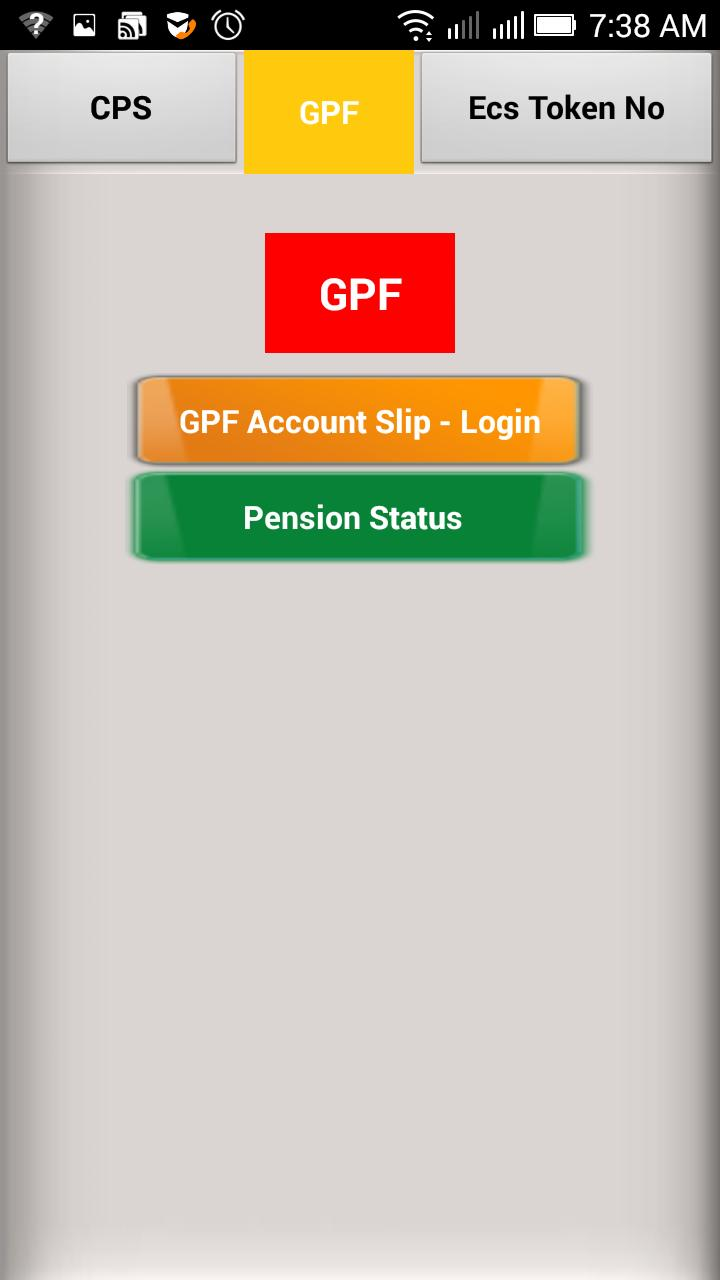 CPS GPF Account Slip for Android - APK Download