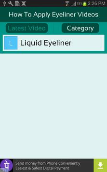 How To Apply Eyeliner Videos apk screenshot