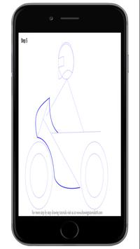 How To Draw Motorcycles Best screenshot 4
