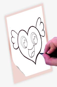 How to draw Hearts poster