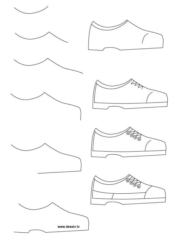 How To Draw Shoes Step By Poster