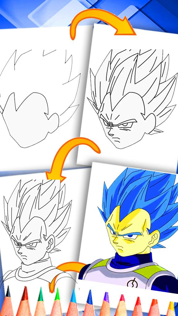 How To Draw Vegeta Hd For Android Apk Download