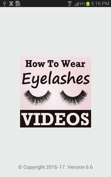 How To Wear Eyelashes VIDEOs poster