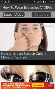How To Wear Eyelashes VIDEOs apk screenshot