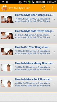 How to Style Hair apk screenshot