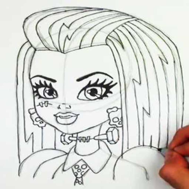 how to draw monster high step by step for android apk download
