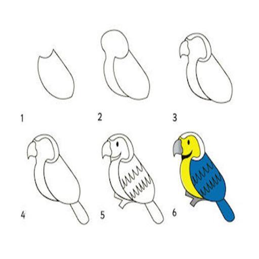 47+ Foto Gambar Burung Dari Pensil  Terbaru Free